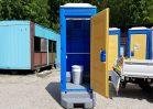 NO.3038 新棟仮設トイレ 洋式簡易水洗 フットポンプ式【樹脂便器】
